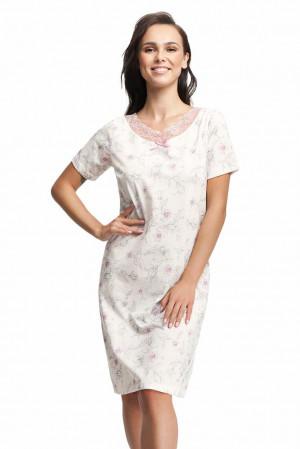 Dámská noční košile Valentina bílá s krajkou Bílá