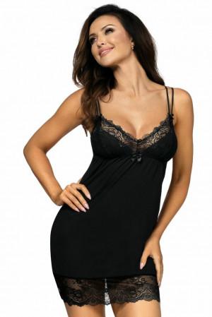Luxusní dámská košilka Pamela černá černá