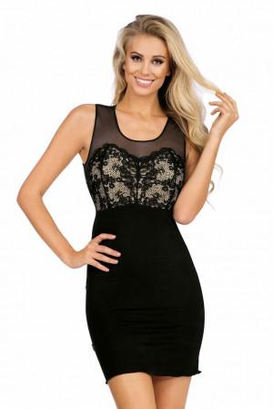 Luxusní košilka Daniella černá černá
