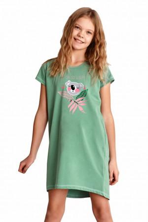 Dívčí noční košilka Gabi zelená Zelená 146