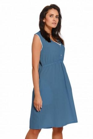 Mateřská noční košilka Helen modrá Modrá