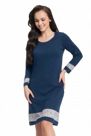 Dámská noční košile Leah tmavě modrá Modrá