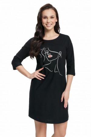 Dámská noční košile Bianka černá černá
