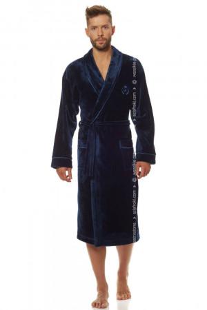 Pánský župan 2111 Luca - L&L tmavě modrá