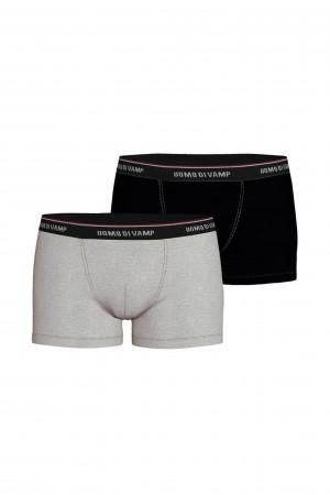 Vamp - Pohodlné pánské boxerky - 2 ks 15895 - Vamp gray melange m