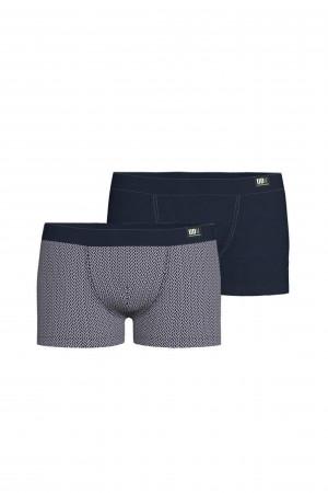 Vamp - Pohodlné pánské boxerky - set 2 ks 15887 - Vamp blue oxford m