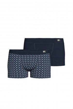Vamp - Pohodlné pánské boxerky - set 2 ks 15883 - Vamp blue oxford m