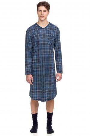 Vamp - Pohodlná pánská noční košile 15694 - Vamp blue m