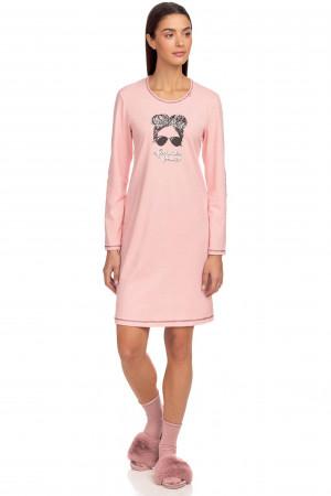 Vamp - Pohodlná dámská noční košile 15443 - Vamp pink powder l