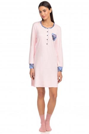 Vamp - Dámská noční košile 15429 - Vamp pink s