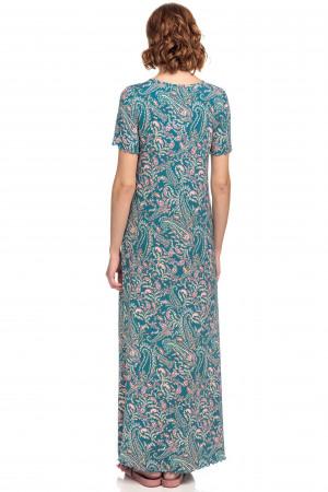 Vamp - Dámská dlouhá noční košile 15173 - Vamp blue teal s