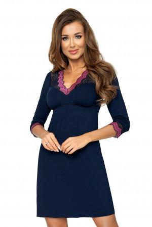 Dámská noční košile Nina II - Donna tmavě modrá 44/2XL