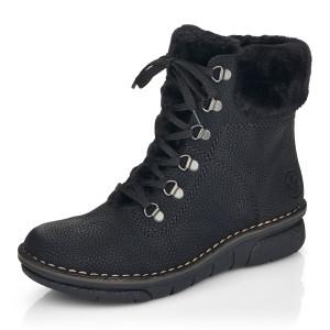 RIEKER, Kotníčková obuv  73332-00 černá EU