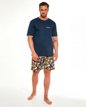 Cornette 326/194 Onion Pánské pyžamo plus size 4XL tmavě modrá