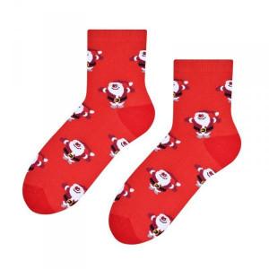 Steven 099 mikuláš červené Dámské ponožky 35/37 červená