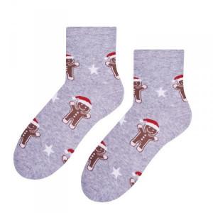 Steven 099 Ciastek šedé Dámské ponožky 35/37 šedá