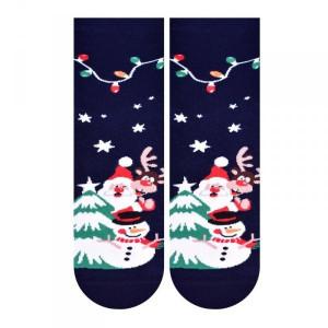 Steven 099 sněhulak tmavě modré Dámské ponožky 35/37 tmavě modrá
