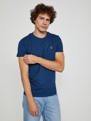 Tmavě modré pánské tričko Pepe Jeans Wallace