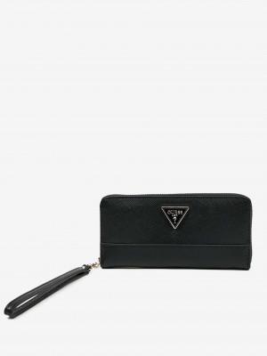Tmavě hnědá dámská peněženka Guess