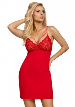 Dámská noční košilka Donna Lulu L Červená