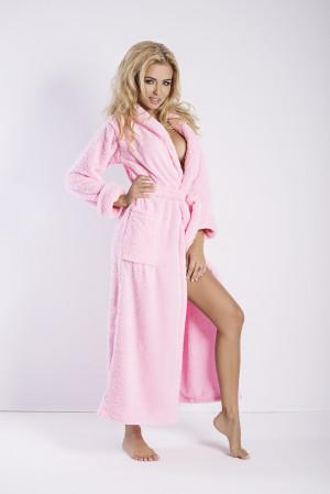 Dámský župan Eliza long pink - DKAREN růžová