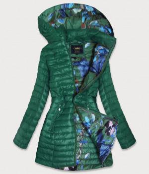 Zelená dámská prošívaná bunda (7178) zelená S (36)