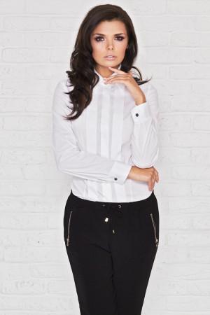 Dámská košile s dlouhým rukávem M005 - Infinite You bílá S-36