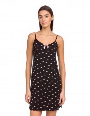 Dámska noční košilka 15836 - 100 - Černá - Vamp černá
