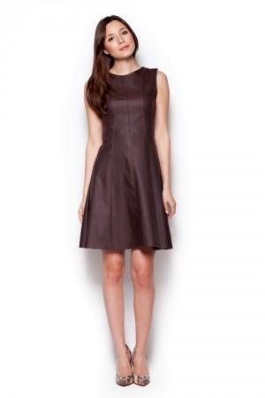 Dámské šaty M342 brown hnědá