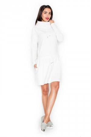 Dámské šaty K260 ecru krémová