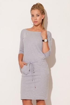 Dámské šaty M203 grey šedá