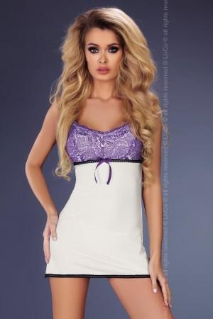 Dámská košilka Amaris bílá-fialová S/M