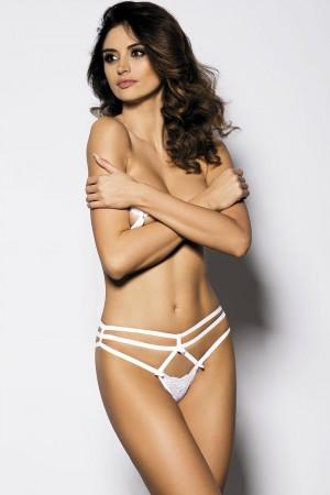 Erotická tanga Cayenne bílá XS