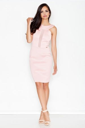 Dámské šaty M372 pink růžová XL