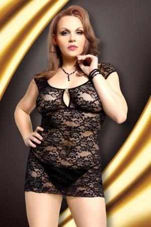 Erotická košilka Linley black XXL černá XL