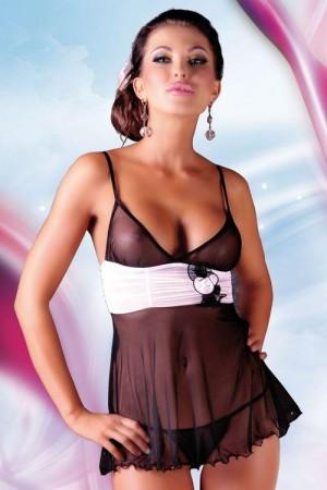 Erotická košilka Fiore black černá M/L