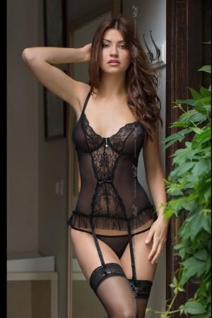 Erotický korzet Daria black černá