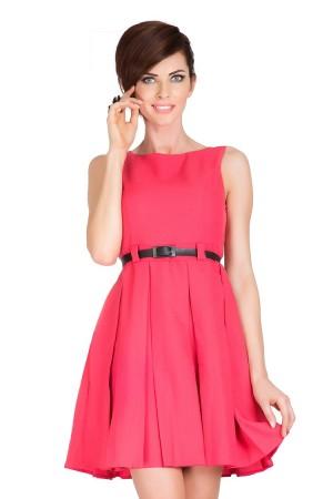 Béžové šaty s kontravolány 6-8 Varianta: