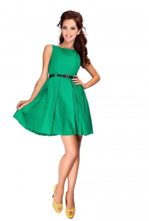 Zelené šaty s kontravolány 6-12 Varianta: XL