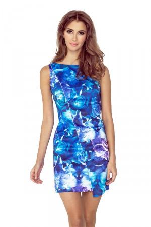 Květované asymetrické šaty s lemem MM 004-1  Varianta: