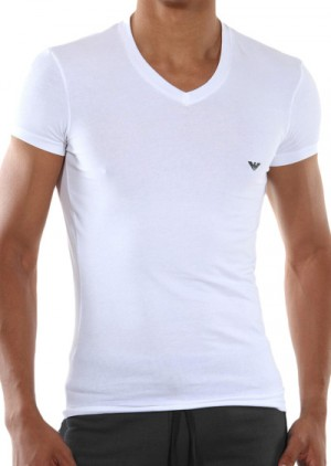 Pánské tričko Emporio Armani 110810 CC729 bílá L Bílá