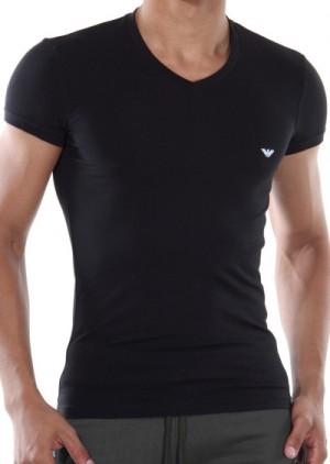 Pánské tričko Emporio Armani 110810 CC729 černá L Černá