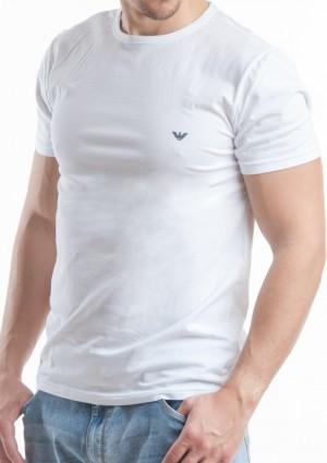 Pánské tričko Emporio Armani 111267 CC717 bílá L Bílá
