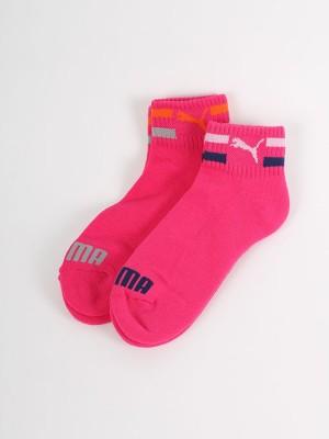Ponožky Puma Clyde Jr Quarters 2 Pack beet Růžová
