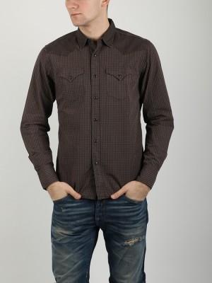 Košile Replay M4860A Shirts Hnědá