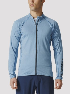 Bunda adidas Performance V ZIP LS Modrá