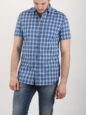Košile Diesel S-JUGO CAMICIA Modrá
