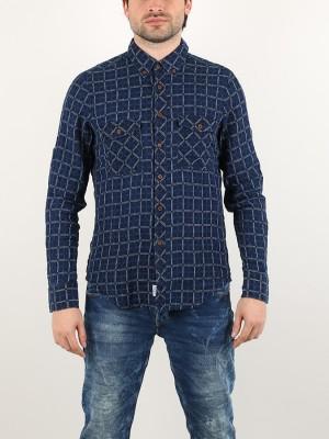 Košile Alcott DOBBY FABRIC CHECK Modrá