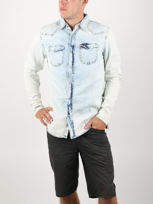 Košile Alcott LIGHT BLUE DENIM SHIRT Modrá
