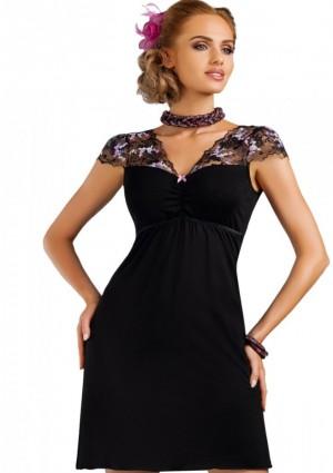 Noční košilka Donna Ismena 3XL Černá